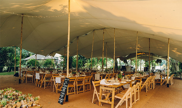 wedding stretch tent - isle of man